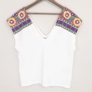 Zara Trafaluc colorful blouse